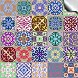 """Tp58 - 6"""" Pack of 24 - Printed in 2D Kitchen / Bathroom Tile STICKERS For 150mm (6 inch) Square Tiles – Directly From: TILE STYLE DECALS, No Middleman (6"""" - Pack of 24)"""