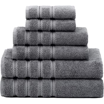 Premium Luxury Hotel Spa Quality 6 Piece Kitchen And Bathroom Turkish Towel Set 100 Genuine Cotton For Maximum Softness Absorbency By American