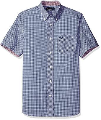 Fred Perry Authentics Classic Gingham Short Sleeved Shirt MEDIEVAL BLUE Small: Amazon.es: Ropa y accesorios