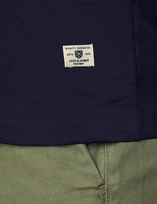 Jack /& Jones Mens Jprlogo Blu Tee Ss Crew Neck Pre T-Shirt