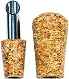 Oil Pour Spout Olive Oil & Vinegar Bottle Pourer Spout Stainless Steel & Cork w/ Cork Dust Cap Smooth Pour (1 Pourer))