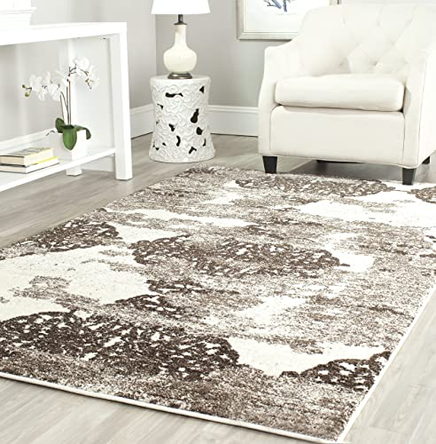Safavieh Retro Collection RET2866-1379 Abstract Beige and Light Grey Area Rug 4 x 6