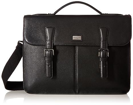 1e1131ef15d7cc Ted Baker Mens Bengal Leather Satchel Briefcase - Black -  Amazon.co.uk   Clothing