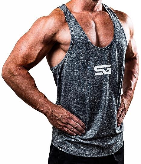 Satire Gym Fitness Stringer Herren - Funktionelle Sport Bekleidung - Geeignet Für Workout, Training - Tank Top