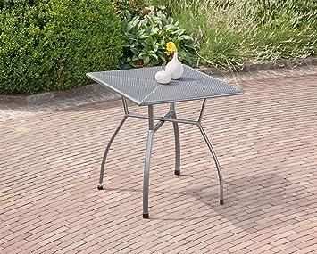 Amazon.de: Greemotion Tisch Toulouse Eisengrau, Quadratischer Gartentisch  Aus Kunststoffummanteltem Stahl, Tisch Mit Niveauregulierung,  Witterungsbeständig ...