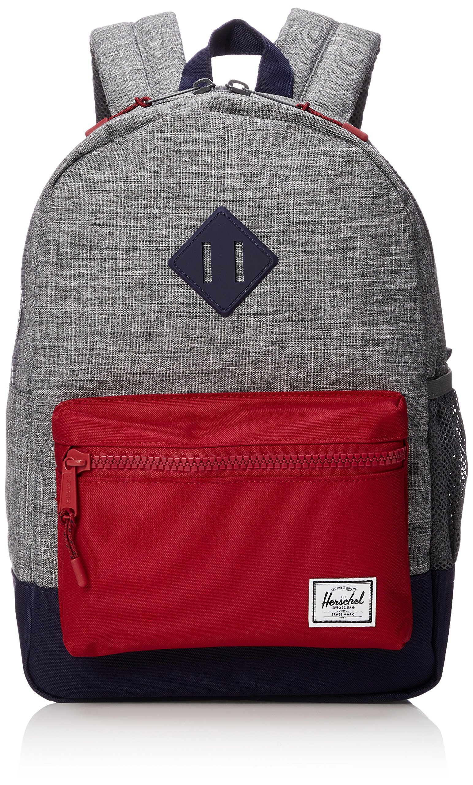 Herschel Supply Co. Kids' Heritage Youth Children's Backpack, Raven Crosshatch/Peacoat/Red, One Size
