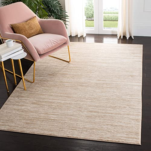 Safavieh Vision Collection VSN606F Modern Contemporary Ombre Chic Area Rug, 8 x 10 , Creme