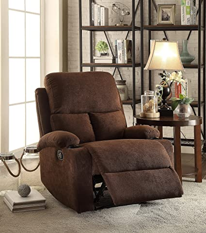 Merveilleux ComfortScape Best Recliner Loveseat Sofa Chair For Elderly, Chocolate Linen