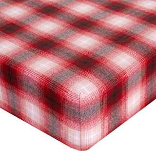 product image for Glenna Jean Crib Fitted Sheet, Lumberjack, Red/White/Black, Mini