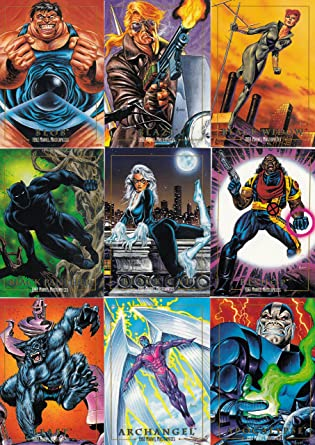 ab3322b24de Image Unavailable. Image not available for. Color  MARVEL MASTERPIECES 1992  SKYBOX COMPLETE BASE CARD ...