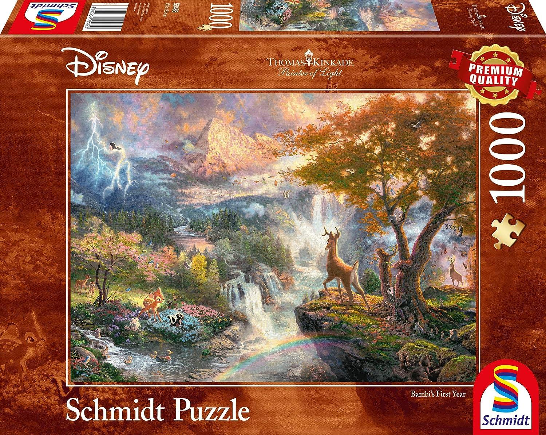 1000/Piezas Disney Bambi Schmidt Spiele Puzzle 59486/Thomas Kinkade