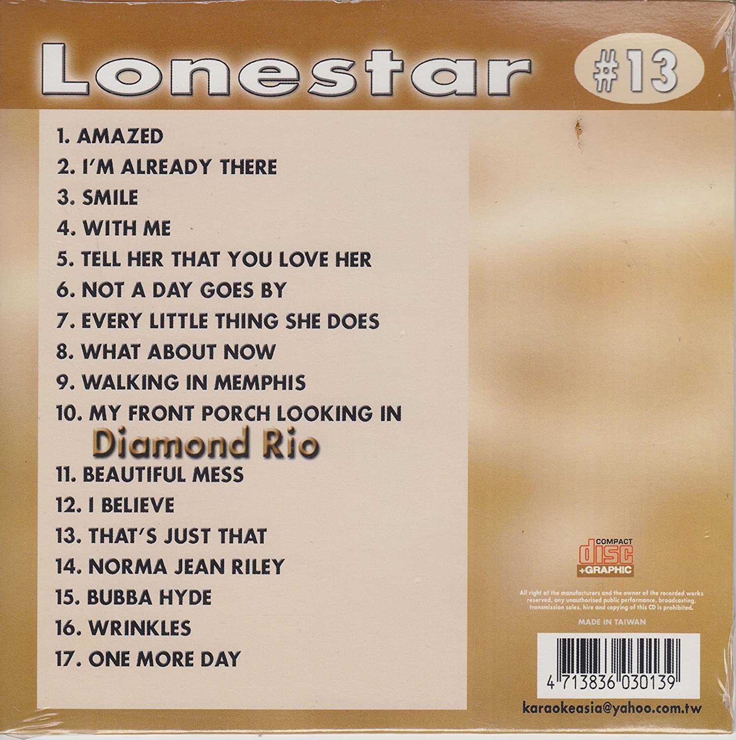 Amazon.com: LONESTAR & DIAMOND RIO Country Karaoke Classics CDG ...