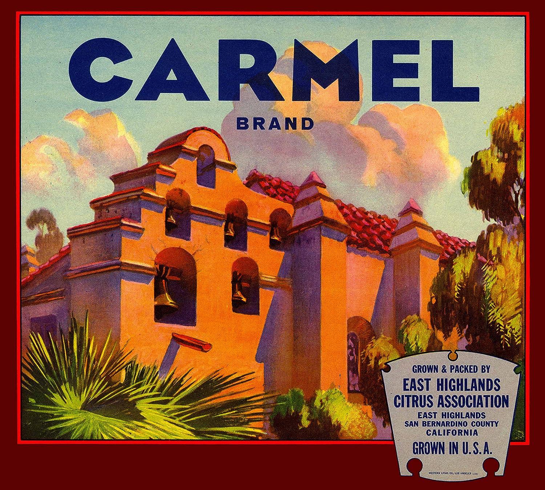 Highland San Bernardino County Thistle Orange Citrus Fruit Crate Label Art Print