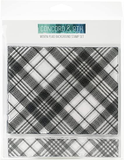 Concord /& 9th Plaid Background Clear Stamps 6X6