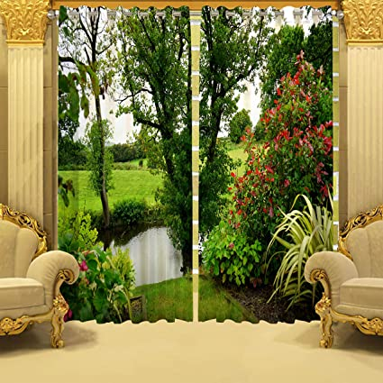 Buy B7 Creations Digital Printed 3d Polyester Knitting Curtain For
