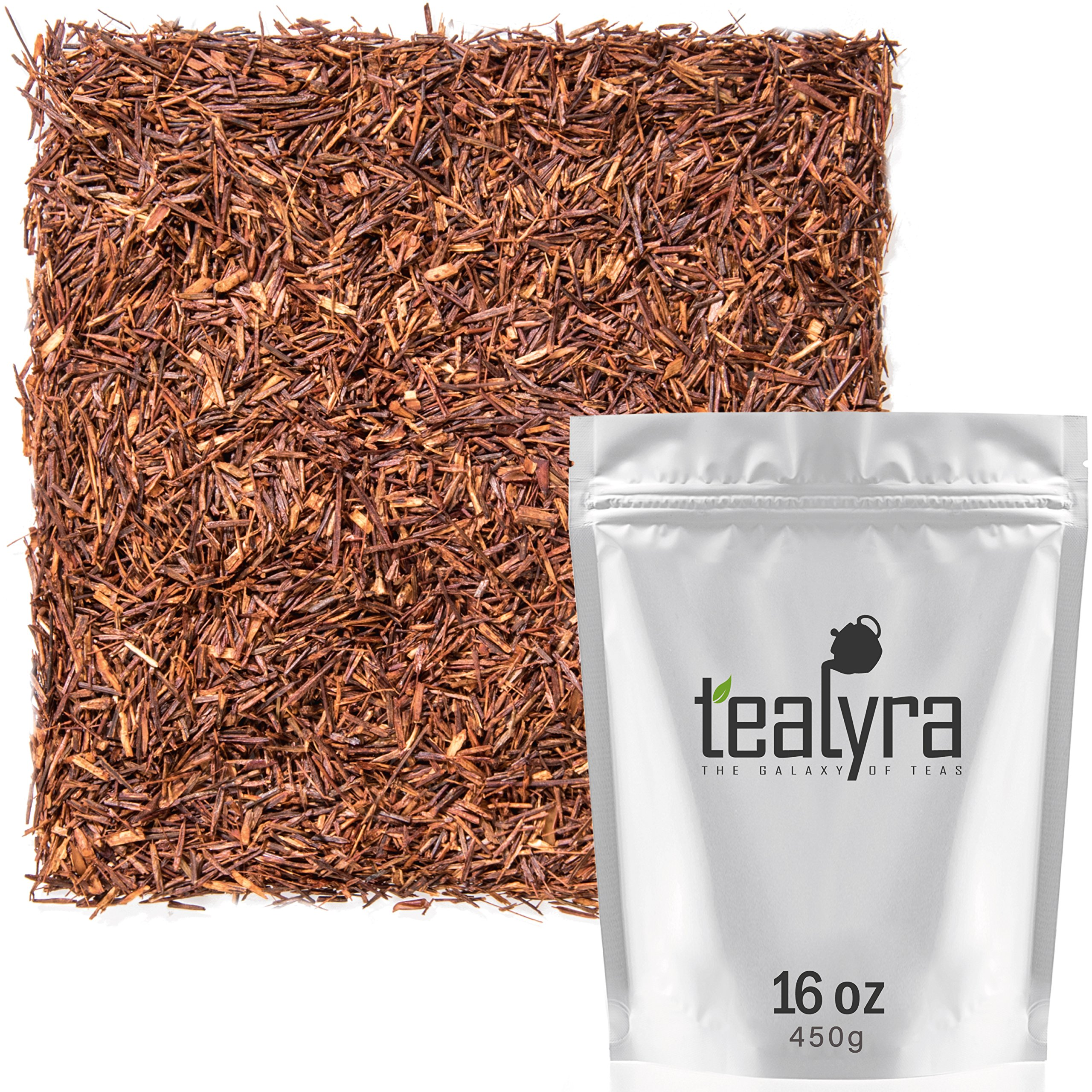 Tealyra - Pure Rooibos Red Herbal Tea - African Red Bush Loose Leaf Tea - High in Antioxidants - Relax - Detox - Low Blood Pressure - Kids Welcome - Caffeine-Free - Organically Grown - 450g (16-ounce) by Tealyra