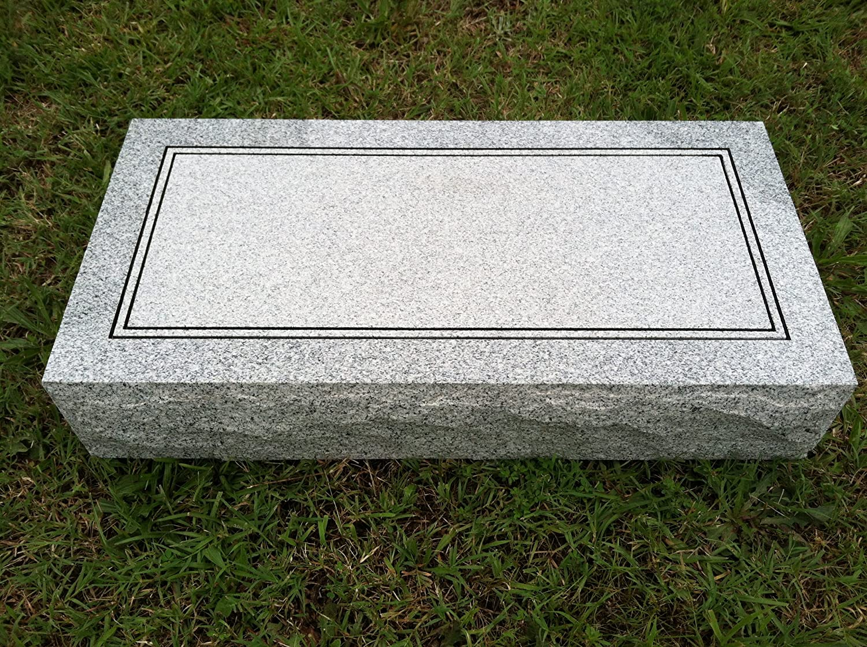 Upstate Stone Works Granite Headstone 24 X12 X4 Plain