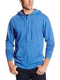 7c6b88fc5bc8 MJ Soffe Men's French Terry Zip Hooded Sweatshirt