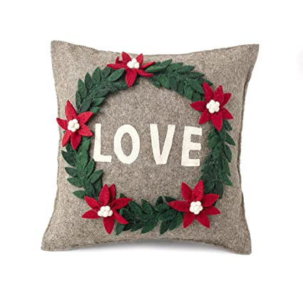 Amazoncom Arcadia Home Pflove Love Wreath Cushion Cover In Hand - The-elegance-of-the-arcadia