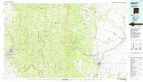 Santa Fe NM topo map, 1:100000 scale, 30 X 60 Minute,