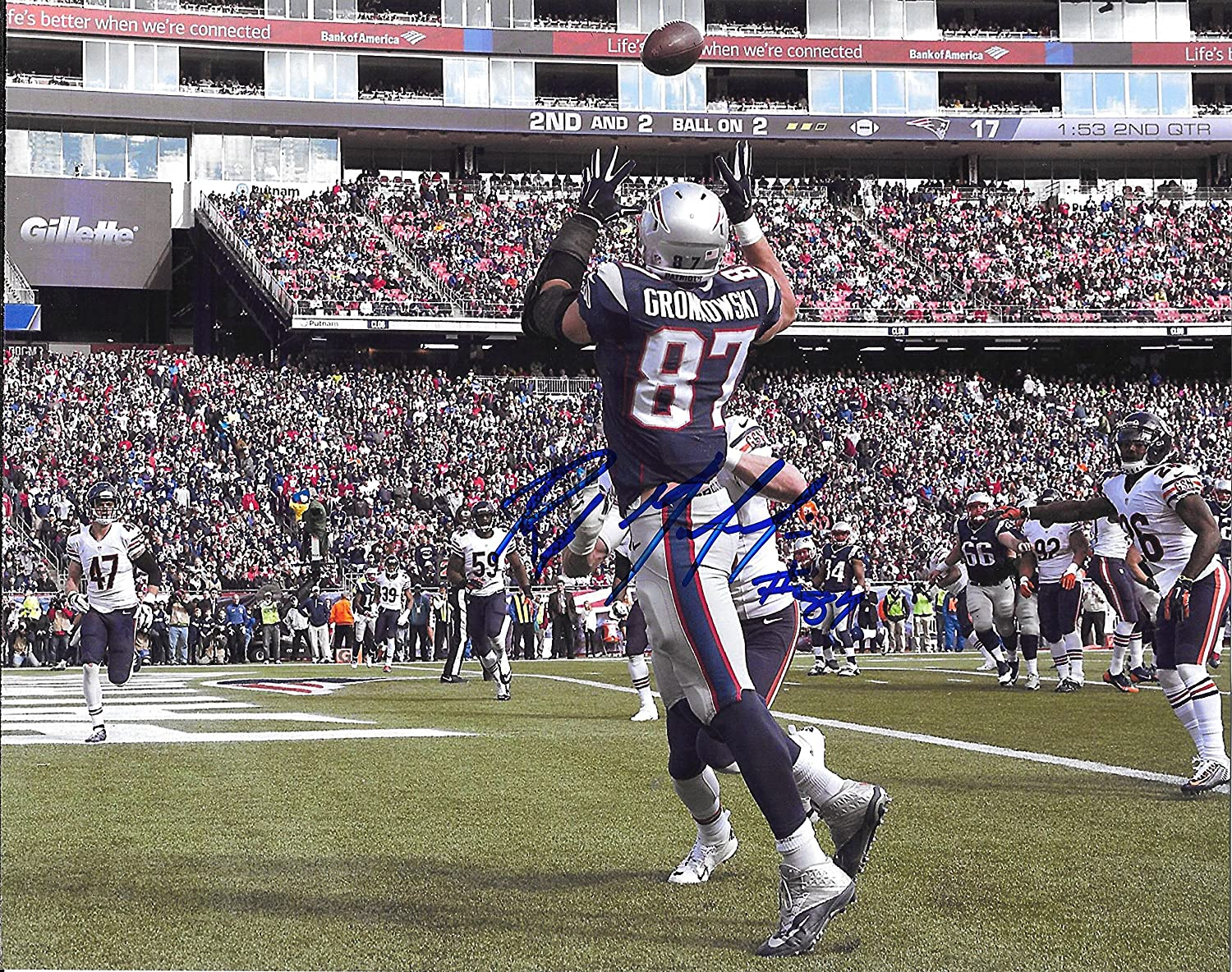Rob Gronkowski Patriots Autographed Signed 8x10 Photo - COA - Mint Condition