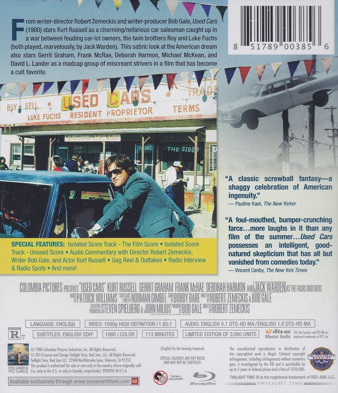 Amazon.com: Used Cars [Blu-ray]: Kurt Russell, Jack Warden, Robert Zemeckis: Movies & TV