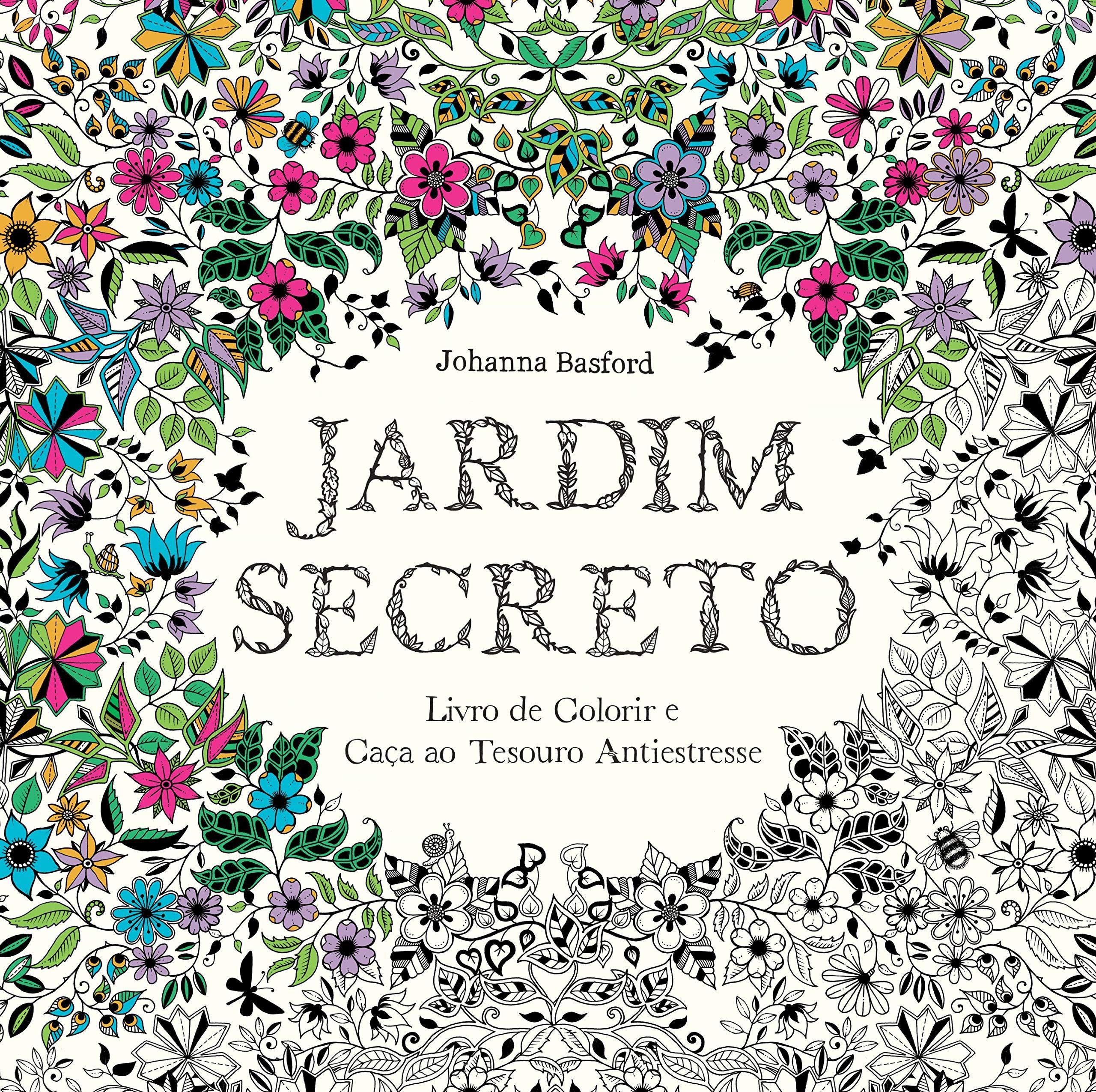 Jardim Secreto Livro Para Colorir Antiestresse Na Amazon Com Br