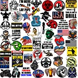 Hard Hat Stickers 50+ MEGA PACK, Tool Box Stickers and Decals for adults, Funny Construction, Military, Veteran, Union…