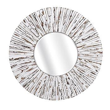 Supreme Sadie Wooden Mirror White