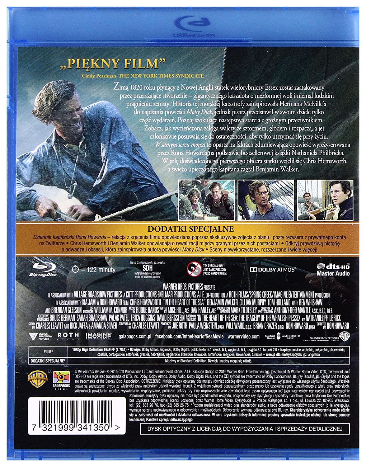 In the Heart of the Sea Blu-Ray Region B IMPORT No hay ...