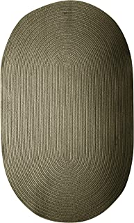product image for Colonial Mills Bristol Polypropylene Braided Rug, 2-Feet by 3-Feet, Olive