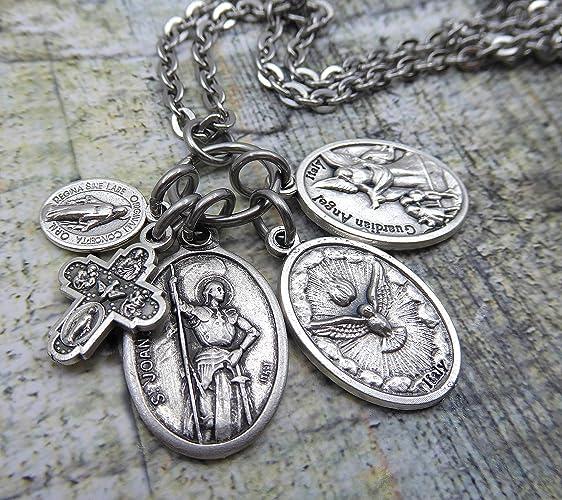 Amazon.com  St. Joan of Arc Charm Necklace or Keychain 31a6023e0
