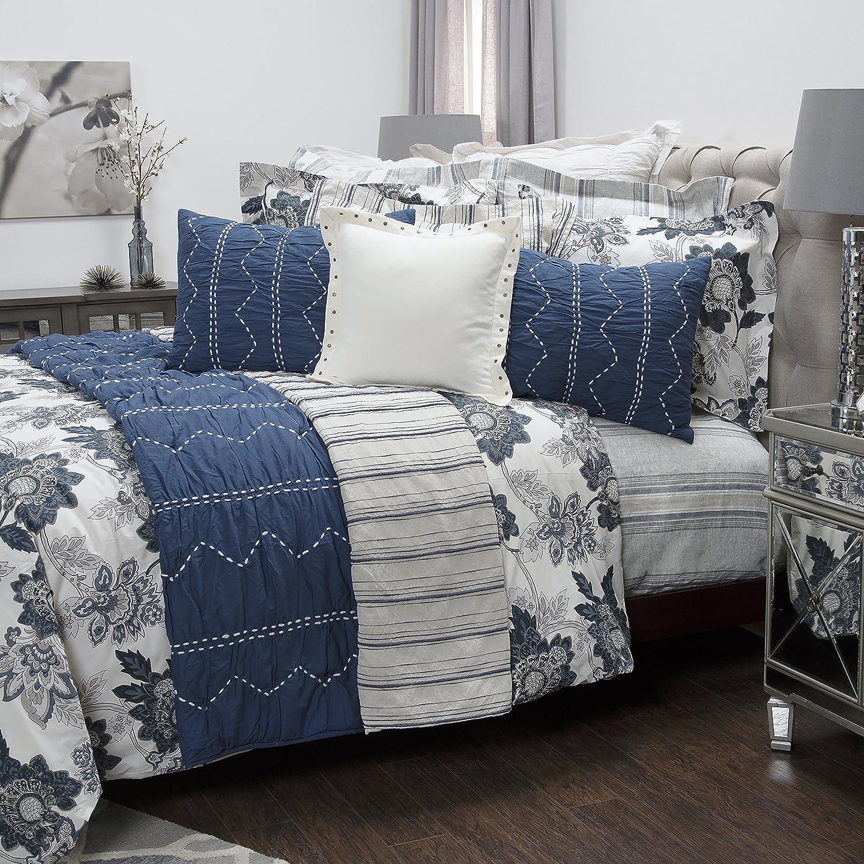 Rizzy Home The Morrison Comforter Set King Ivory//Indigo CFSBT318400309814