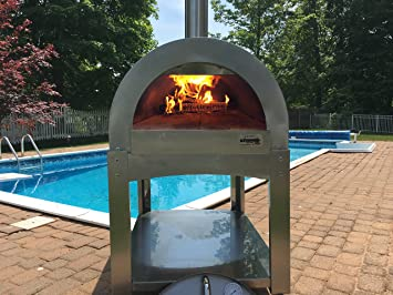 ilfornino basic wood fired pizza oven high grade stainless steel by ilfornino new york