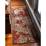 Unique Loom Autumn Collection Rustic Casual Warm Toned Abstract Multi Runner Rug (2' 0 x 6' 0)