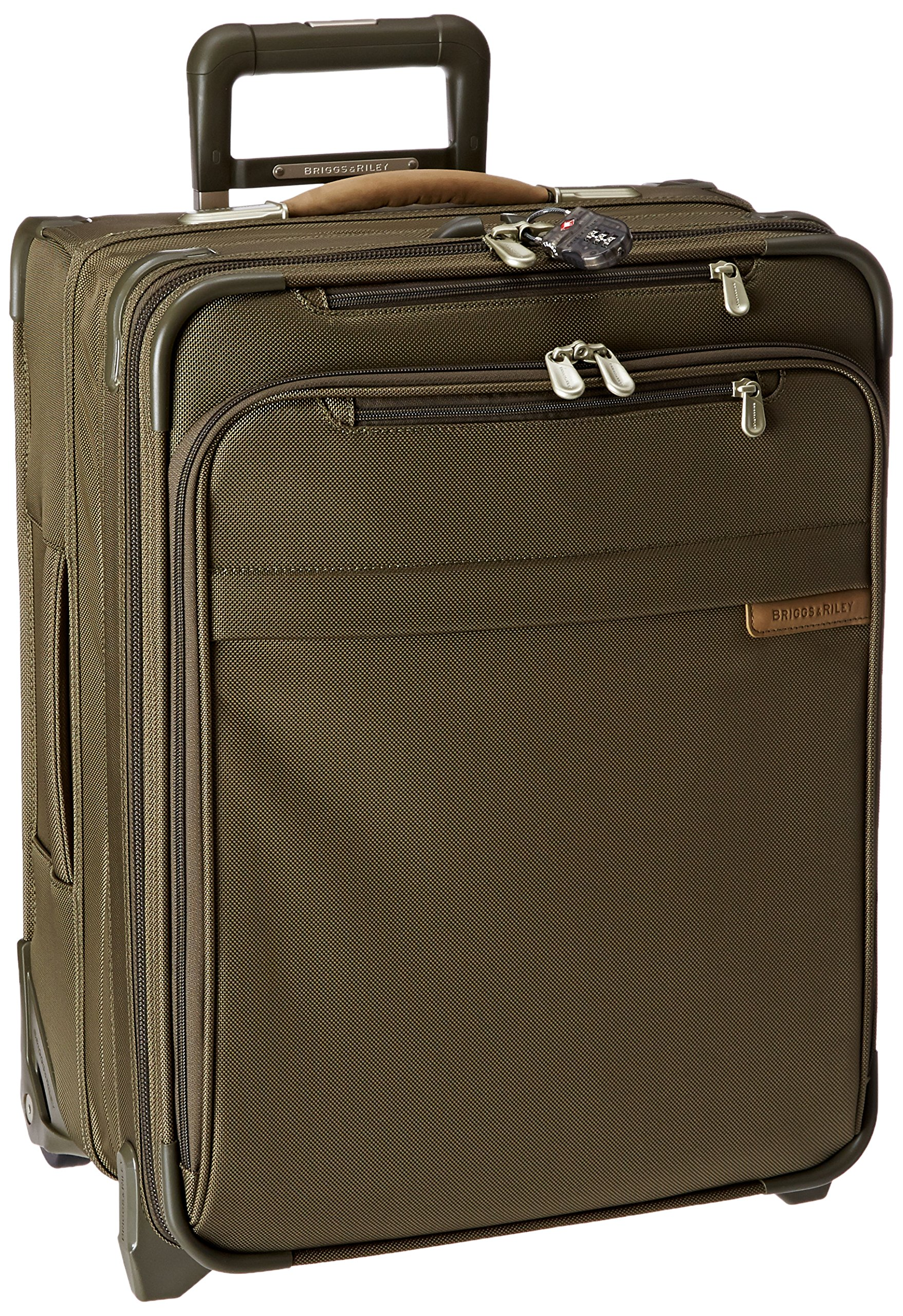 Briggs & Riley Baseline International Carry-On Expandable Wide-Body 21'' Upright Olive by Briggs & Riley