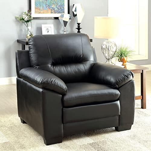 Furniture of America Stewart Leatherette Chair