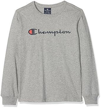 5b7bd7ab7 Champion Boy's Long Sleeve T-Shirt 304750 Longsleeve, Grey (Oxgm Em006) 3