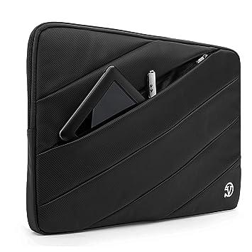 Vangoddy Jam Bubble Padded Striped Carrying Sleeve for Lenovo Yoga Series 13.3 inch Laptops (Black)