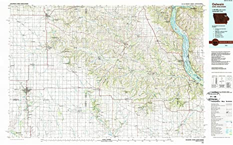 Oelwein Iowa Map.Amazon Com Yellowmaps Oelwein Ia Topo Map 1 100000 Scale 30 X 60