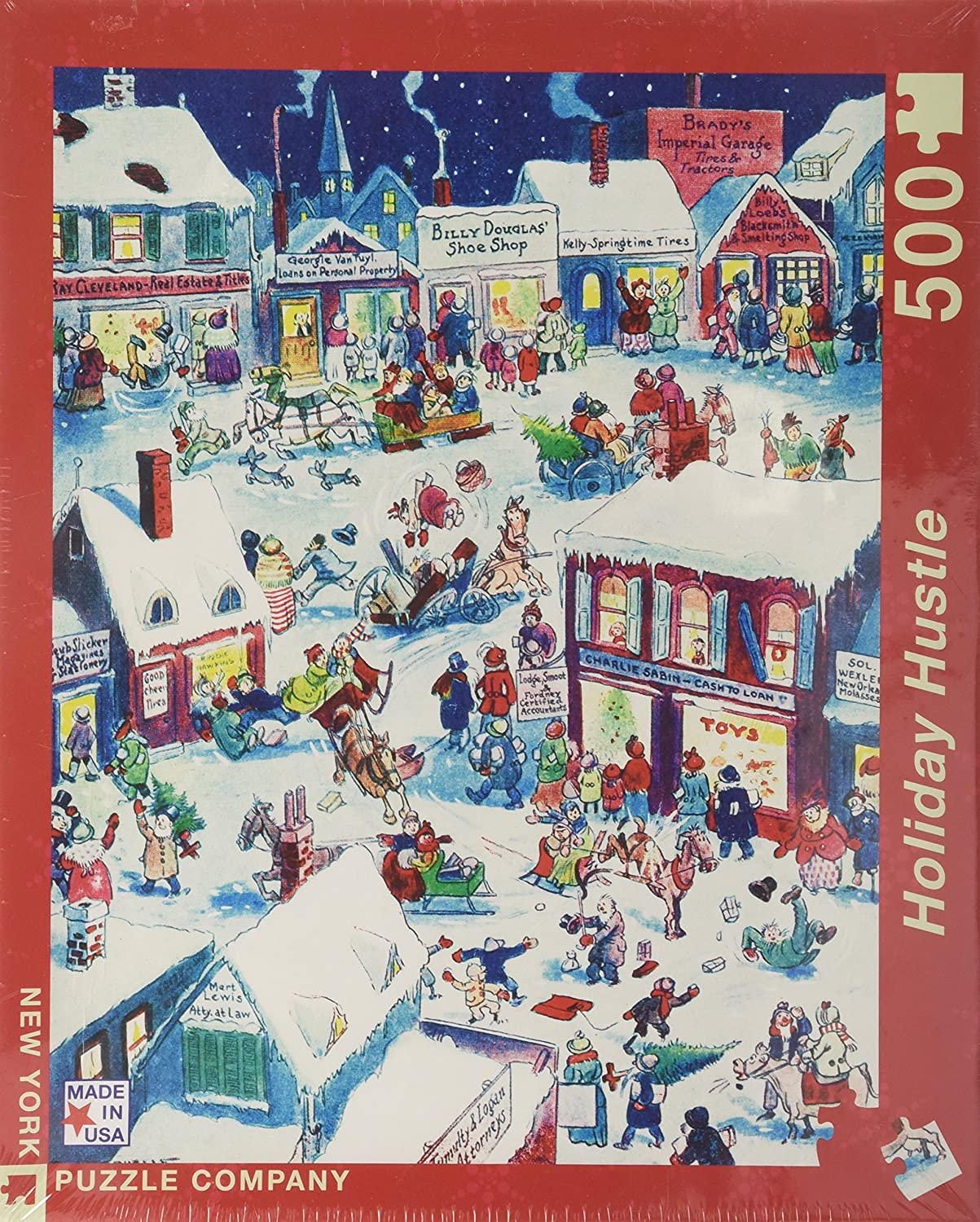 9f3a6f6eae0d Amazon.com: New York Puzzle Company - The Holiday Hustle - 500 Piece Jigsaw  Puzzle: New York Puzzle Co.: Toys & Games