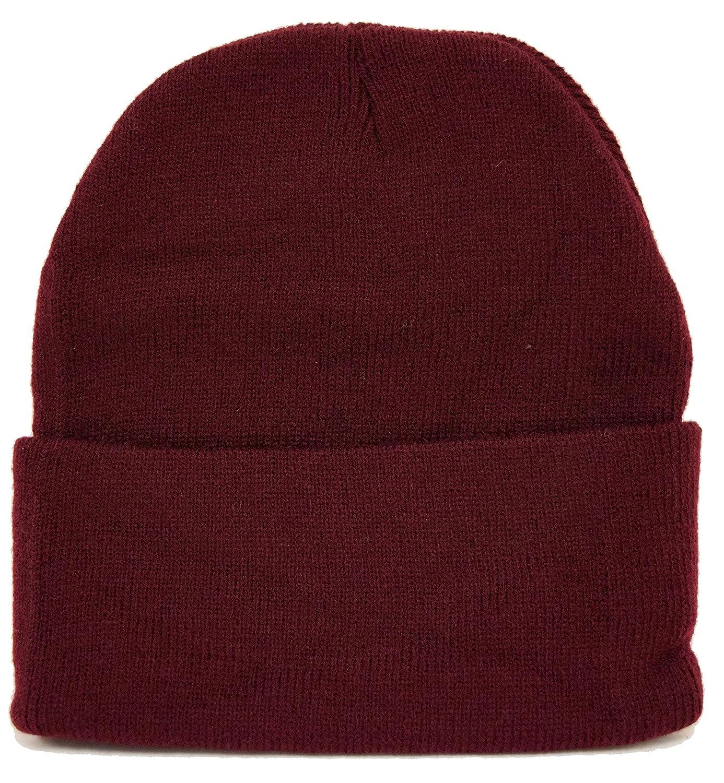 FLORIDA HAT COMPANY Long Beanie Maroon   Warm For Winter at Amazon Men s  Clothing store  Skull Caps 22bfebda5