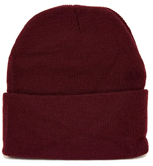 f7d8ef65d0b FLORIDA HAT COMPANY Long Beanie Maroon   Warm For Winter at Amazon ...