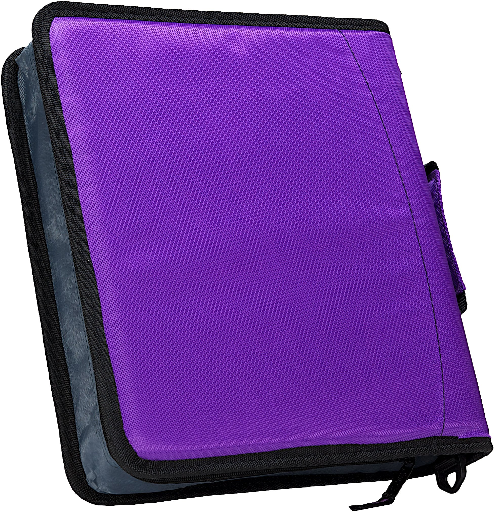 Case-it Sidekick 2-Inch O-Ring Zipper Binder with Removable Tab File, Purple, D-901-PUR by Case-It (Image #8)
