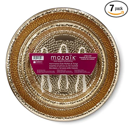 Mozaik HPG1216PDQ-O Disposable Platter, Gold