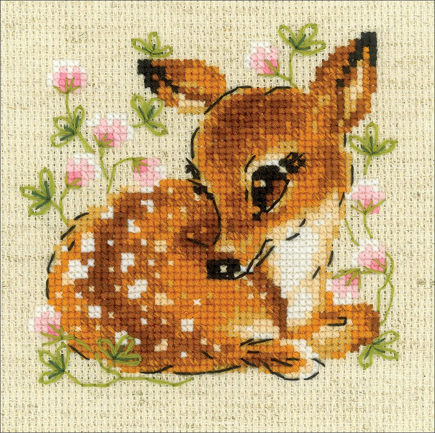 RIOLIS Cross Stitch Kit 5X5-Little Deer 14 Count