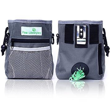 PAW Lifestyles - Bolsa de Entrenamiento para Perros – fácilmente transporta Juguetes para Mascotas, Kibble