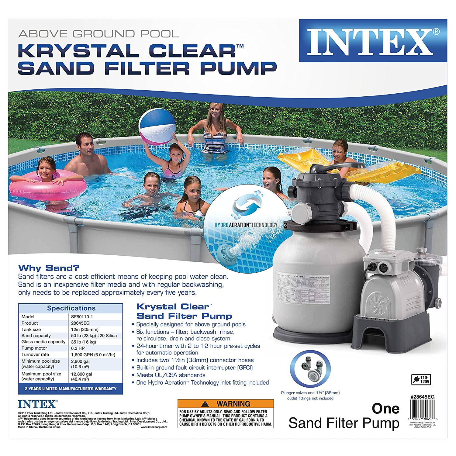 A1XBJjv0vRL._SL1500_ amazon com intex krystal clear sand filter pump for above ground  at bakdesigns.co