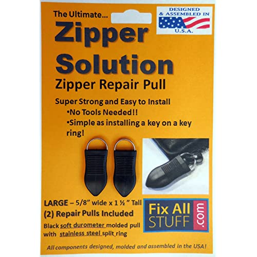 Zipper Solution - Large (2 Ea) the Ultimate Fixer for your Zipper