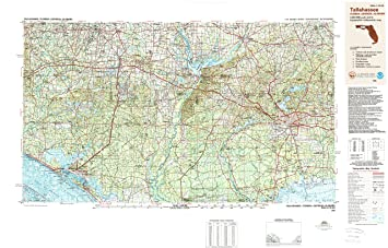 Amazon.com : YellowMaps Tallahassee FL topo map, 1:250000 Scale, 1 X ...